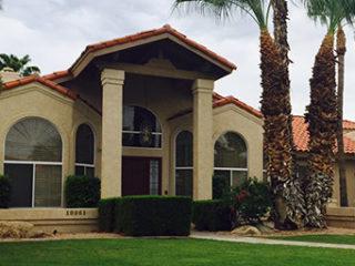 phoenix arizona stucco exterior home with Rhino Shield